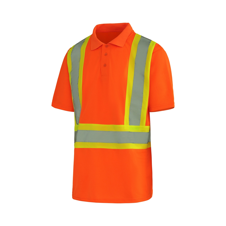 polo manche courte orange