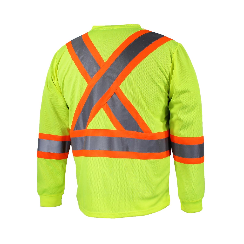 tt-shirt à manches longues -shirt manche longues jaune dos