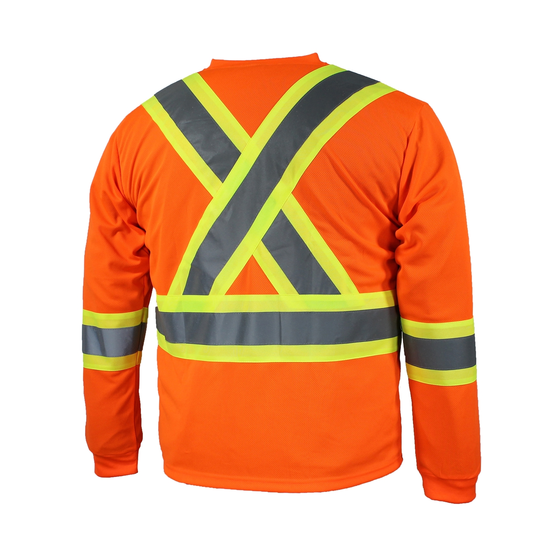 t-shirt manche longues orange dos
