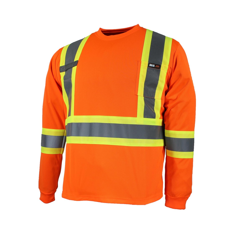t-shirt manche longues orange